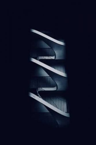 Staircases on a dark blue background // White Label Consultancy Homepage // Privacy and Data Protection Consulting